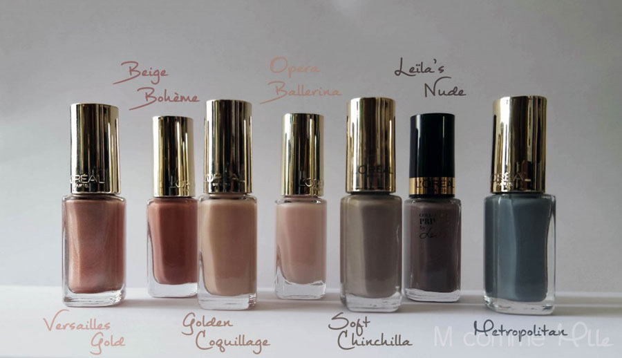 vernis-à-ongles-color-riche-l-oréal-paris-chinchilla-versailles-gold-ballerina-leila-golden-coquillage-bon-plan-blog-m-comme-mademoiselle